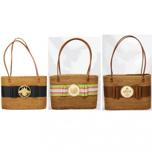 LOB Flat Bow Round Motif Bag  Apparel & Accessories > Handbags