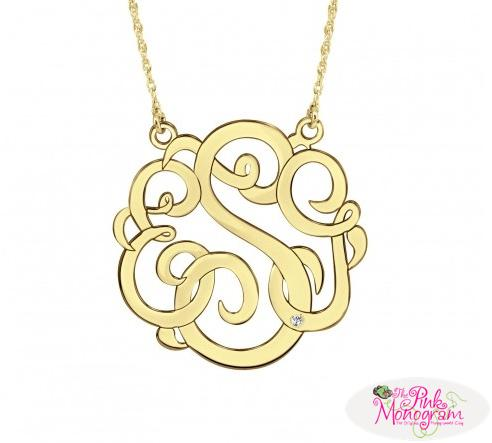 Monogrammed Pendant with Diamond Accent  Apparel & Accessories > Jewelry > Necklaces