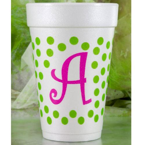 Dots Initial Foam Cups- Set of 30 Dot Initial Foam Cups set of 30 NULL