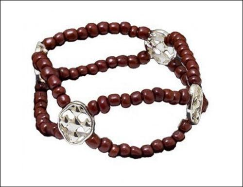 Gracewear Brown Beaded Stretch Faith Shield Bracelet Gracewear Brown Beaded Stretch Faith Shield Bracelet Apparel & Accessories > Jewelry > Bracelets