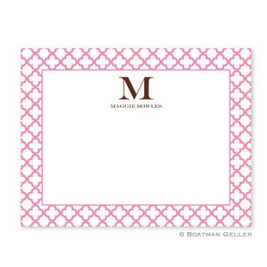 Boatman Geller Personalized Bristol Petite Pink Flat Card  Office Supplies > General Supplies > Paper Products > Stationery