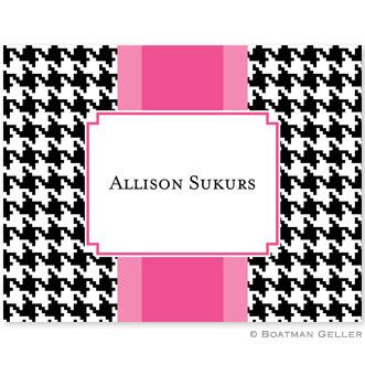 Alex Houndstooth Black Foldover Notes  Office Supplies > General Supplies > Paper Products > Stationery