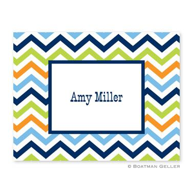 Boatman Geller Personalized Chevron Notes  Office Supplies > General Supplies > Paper Products > Stationery