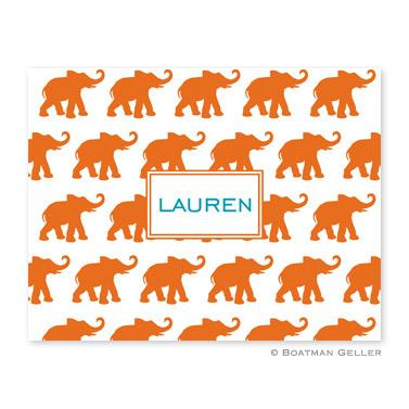 Boatman Geller Personalized Elephants Notes  Office Supplies > General Supplies > Paper Products > Stationery