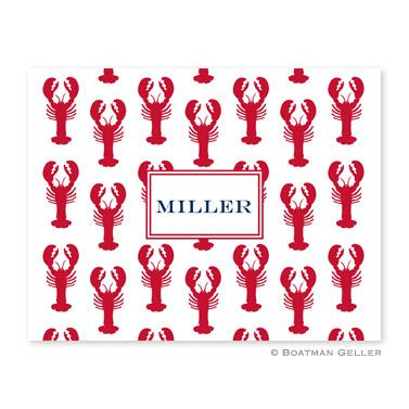 Boatman Geller Personalized Lobsters Foldover Notes  Office Supplies > General Supplies > Paper Products > Stationery