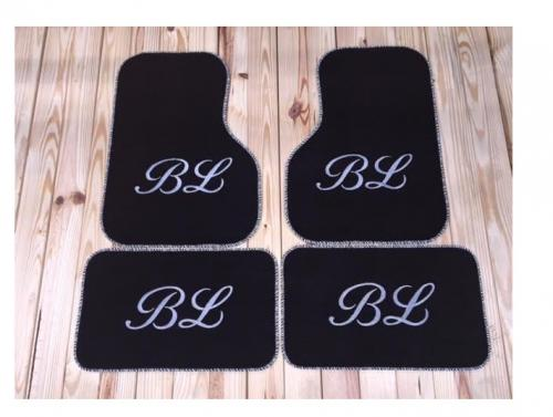 Monogrammed Car Mats - Front-Wheel Drive Cars   Vehicles & Parts > Vehicle Parts & Accessories > Motor Vehicle Interior > Vehicle Floor Mats