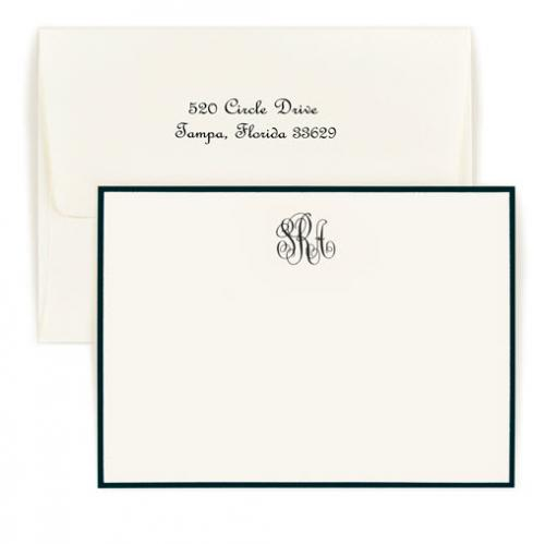 Personalized Classic Monogram Bordered Correspondence Card  Office Supplies > General Supplies > Paper Products > Stationery