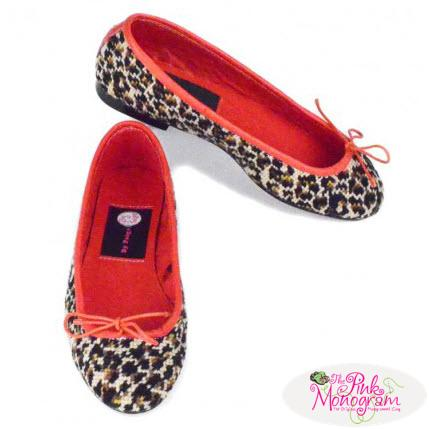 By Paige Leopard Ladies Needlepoint Ballet Flats   Apparel & Accessories > Shoes > Flats