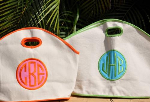 Queen Bea Monogrammed GG Tote with Applique  Apparel & Accessories > Handbags > Tote Handbags