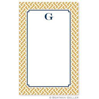 Boatman Geller Personalized Notepad in Stella Gold Pattern  Office Supplies > General Supplies > Paper Products > Notebooks & Notepads