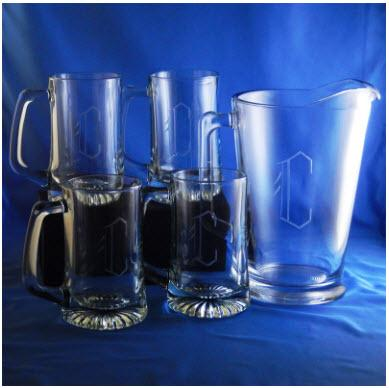 Monogrammed Tailgate Pitcher Set  Home & Garden > Kitchen & Dining > Barware