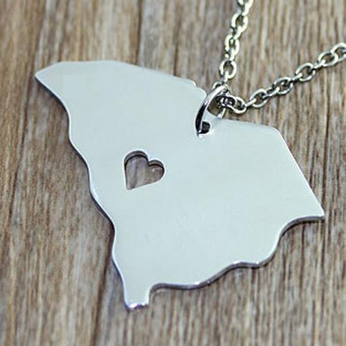 State Identity Necklace  Apparel & Accessories > Jewelry > Necklaces