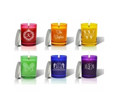 Carved Solutions Personalized GEM Glass Candle  Home & Garden > Decor > Candles