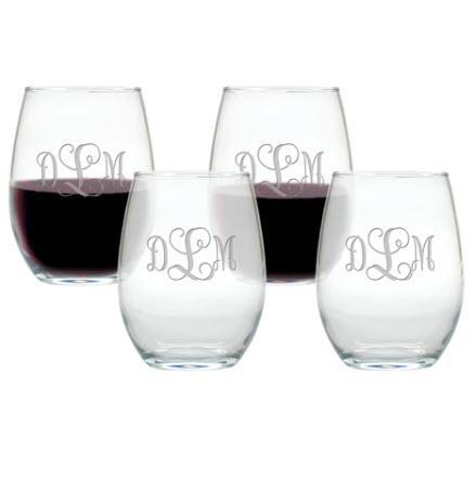 Stemless Glass Personalized Wine Glass Set  Home & Garden > Kitchen & Dining > Tableware > Drinkware > Stemware > Wine Glasses