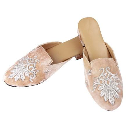 Saachi Silk Ladies Embroidered Slippers   Apparel & Accessories > Shoes > Clogs & Mules