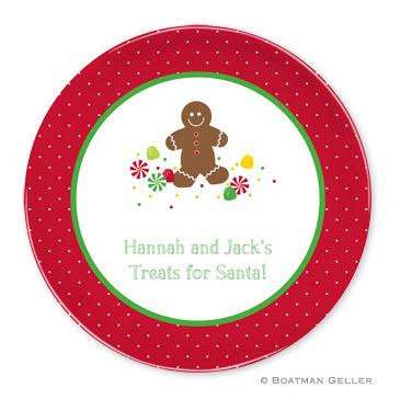 Boatman Geller Personalized Melamine Plate with Gingerbread Pattern  Home & Garden > Kitchen & Dining > Tableware > Dinnerware > Plates