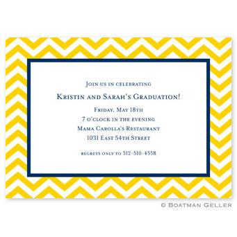 Boatman Geller Personalized Chevron Invitation  Office Supplies > General Supplies > Paper Products > Stationery