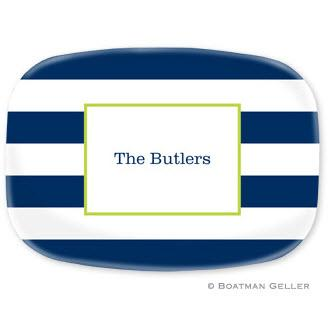 Personalized Awning Stripe Melamine Platter  Home & Garden > Kitchen & Dining > Tableware > Serveware > Serving Platters