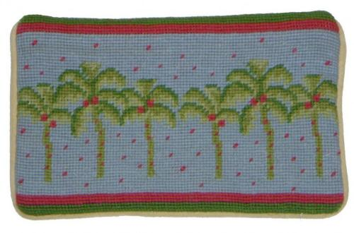 Palm Tree Cosmetic Bag Hand Stitched By Paige Palm Tree Cosmetic Bag Luggage & Bags > Toiletry Bags