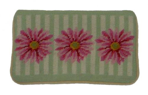 Daisy Needlepoint Cosmetic Case Hand Stitched By Paige  Daisy Needlepoint Cosmetic Case  Luggage & Bags > Toiletry Bags