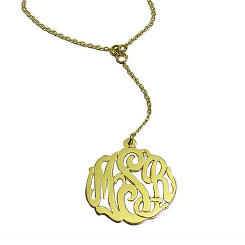 Monogrammed Necklace Lariat Style  Apparel & Accessories > Jewelry > Necklaces