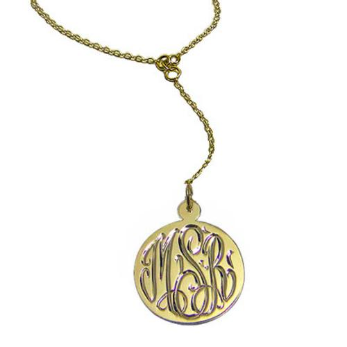 Monogrammed Hand Engraved Pendant  Apparel & Accessories > Jewelry