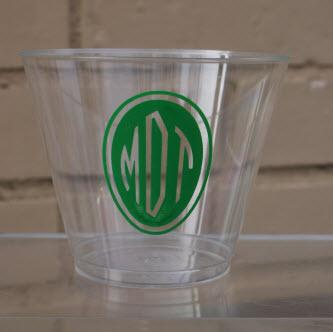 9 oz Personalized Clear Hard Plastic Cups  Home & Garden > Kitchen & Dining > Tableware > Drinkware