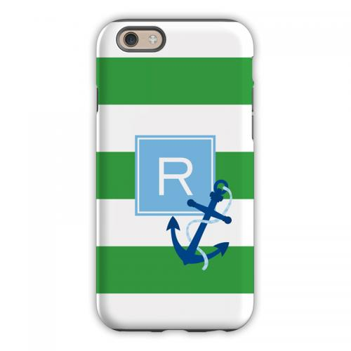 Personalized iPhone Case Anchor Stripe   Electronics > Communications > Telephony > Mobile Phone Accessories > Mobile Phone Cases