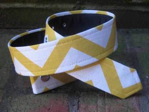 Loopty Loo Marigold Chevron fabric belt strip  Apparel & Accessories > Clothing Accessories > Belts