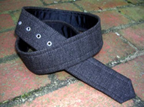 Loopty Loo Black Burlap Fabric Belt Strip  Apparel & Accessories > Clothing Accessories > Belts