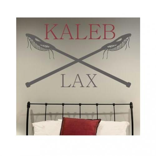 Monogram Decal Lacrosse sticks and LAX Vinyl for Your Wall   Home & Garden > Decor > Wall & Window Decals