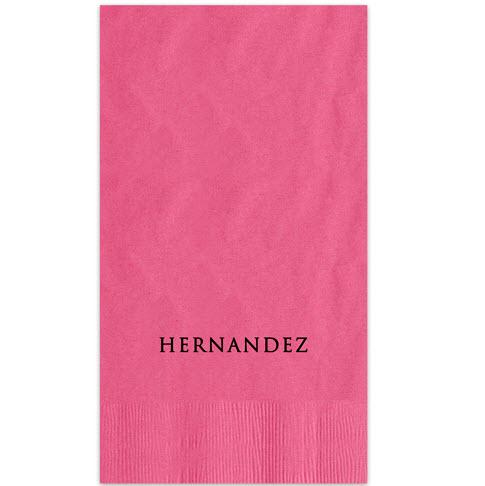Derby Foil-Stamped Guest Towel  Home & Garden > Kitchen & Dining