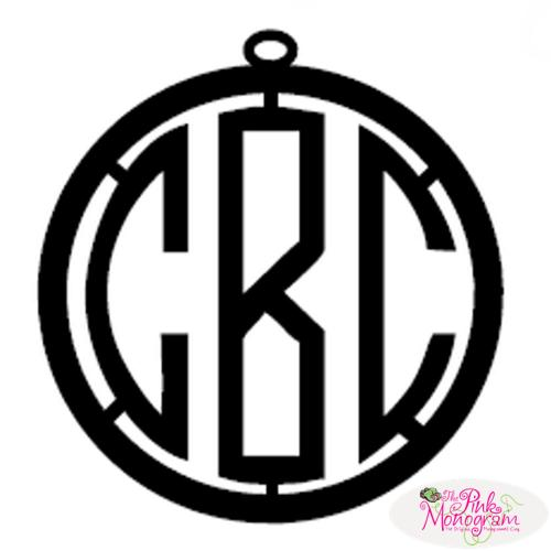 Circle Font Metal Monogram for Door Circle Font Metal Monogram for Door Home & Garden > Decor > Plaques