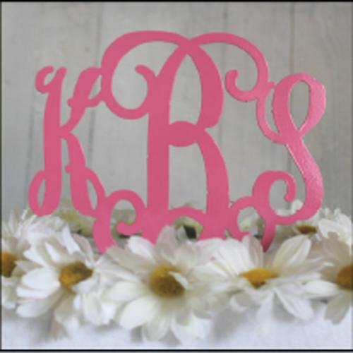 Metal Three Letter Monogram Cake Topper or Plant Spike Metal 3-Letter Monogram Cake Topper Home & Garden > Kitchen & Dining > Kitchen Tools & Utensils > Cake Decorating Supplies