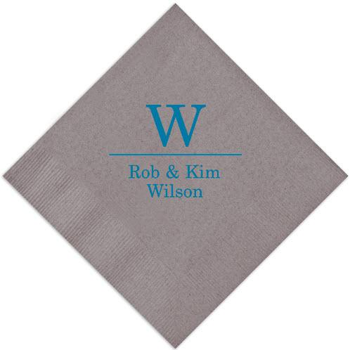 Initial & Name Foil-Stamped Napkins  Home & Garden > Kitchen & Dining