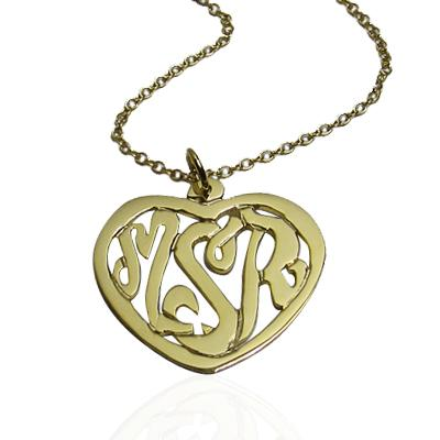 Monogrammed Heart pendant on a center bale  Apparel & Accessories > Jewelry > Necklaces