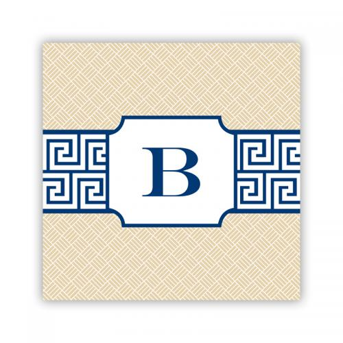 Personalized Coasters Greek Key Band Navy   Home & Garden > Kitchen & Dining > Barware > Coasters