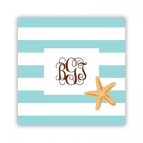 Personalized Coasters Stripe Starfish   Home & Garden > Kitchen & Dining > Barware > Coasters