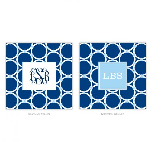Personalized Coasters Bamboo Rings Navy   Home & Garden > Kitchen & Dining > Barware > Coasters