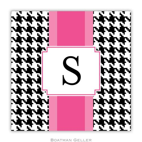 Personalized Coasters Alex Houndstooth Black   Home & Garden > Kitchen & Dining > Barware > Coasters