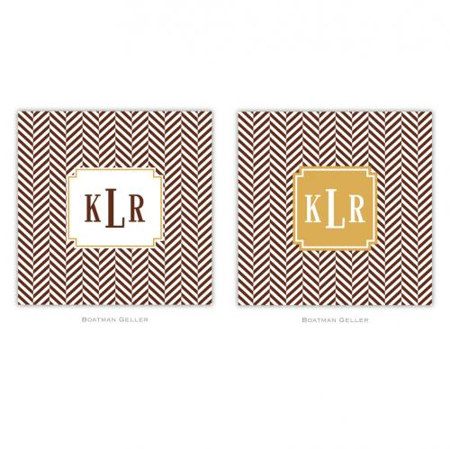 Personalized Coasters Herringbone Chocolate   Home & Garden > Kitchen & Dining > Barware > Coasters