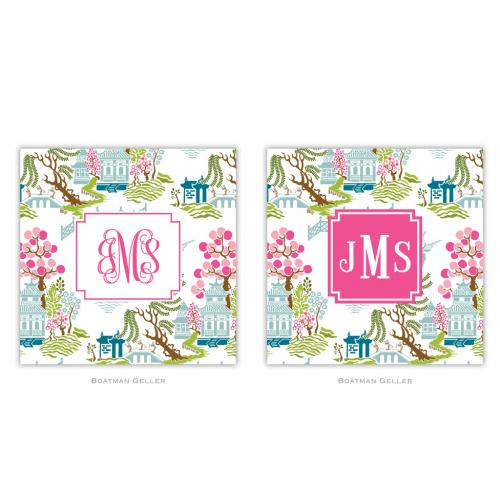 Personalized Coasters Chinoiserie Spring Pattern  Home & Garden > Kitchen & Dining > Barware > Coasters