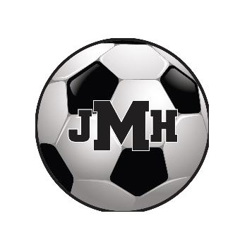 Childs Round Personalized Soccer Ball Needlepoint Rug Childs rug soccer ball Home & Garden > Decor > Rugs