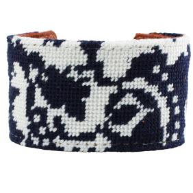 Elise Francesca Navy Toile Cuff Elise Francesca Navy Toile Cuff Apparel & Accessories > Jewelry > Bracelets