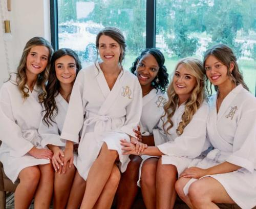 Monogrammed Ladies Kimono Robes Free Monogram  Apparel & Accessories > Clothing > Sleepwear & Loungewear > Robes