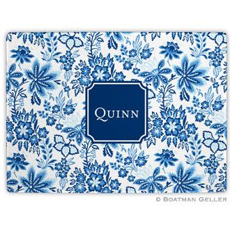 Classic Floral Blue Glass Cutting Board  Home & Garden > Kitchen & Dining > Kitchen Tools & Utensils > Cutting Boards