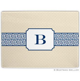Greek Key Band Navy Glass Cutting Board  Home & Garden > Kitchen & Dining > Kitchen Tools & Utensils > Cutting Boards