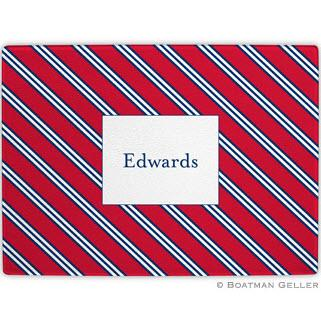 Repp Tie Red & Navy Glass Cutting Board  Home & Garden > Kitchen & Dining > Kitchen Tools & Utensils > Cutting Boards