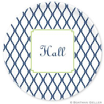 Boatman Geller Personalized Plate with Bamboo Pattern  Home & Garden > Kitchen & Dining > Tableware > Dinnerware > Plates