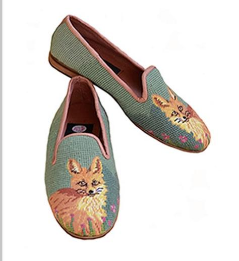 By Paige Ladies Fox on Sage Needlepoint Loafers   Apparel & Accessories > Shoes > Loafers